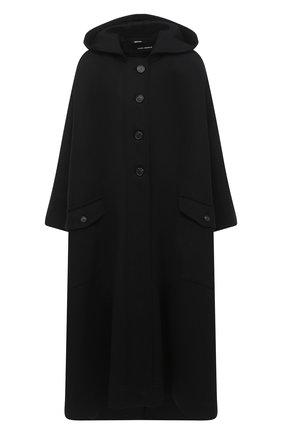 Женское шерстяное пальто ISABEL BENENATO черного цвета, арт. DW03F20 | Фото 1
