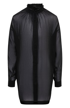 Женская блузка из хлопка и шелка ISABEL BENENATO черного цвета, арт. DW42F20 | Фото 1