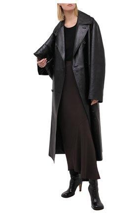 Женская юбка RICK OWENS серого цвета, арт. RP20F2334/CC | Фото 2