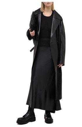 Женская юбка RICK OWENS черного цвета, арт. RP20F2334/QLX   Фото 2