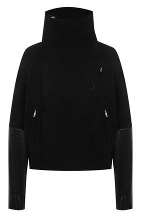 Женская куртка из хлопка и шерсти RICK OWENS черного цвета, арт. RP20F2701/WCFQLX   Фото 1