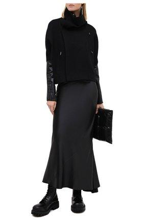 Женская куртка из хлопка и шерсти RICK OWENS черного цвета, арт. RP20F2701/WCFQLX   Фото 2
