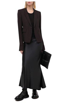 Женский жакет из шерсти и вискозы RICK OWENS серого цвета, арт. RP20F2764/WE   Фото 2