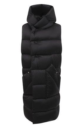 Женский пуховый жилет RICK OWENS черного цвета, арт. RP20F2914/NZD3 | Фото 1
