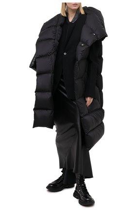 Женский пуховый жилет RICK OWENS черного цвета, арт. RP20F2914/NZD3 | Фото 2