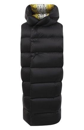 Женский пуховый жилет RICK OWENS черного цвета, арт. RP20F2914/NZLD3 | Фото 1