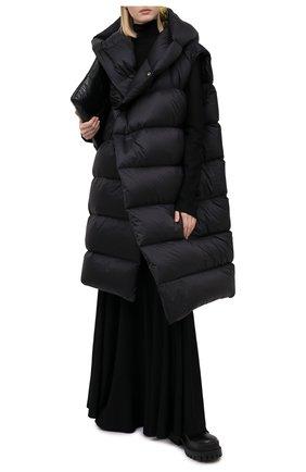 Женский пуховый жилет RICK OWENS черного цвета, арт. RP20F2914/NZLD3 | Фото 2