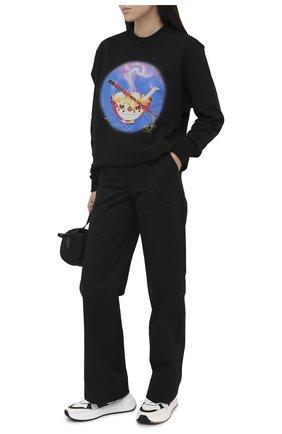 Женский хлопковый свитшот OPENING CEREMONY черного цвета, арт. YWBA001E20FLE004 | Фото 2
