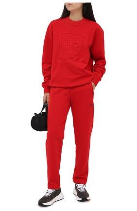 Женский хлопковый свитшот OPENING CEREMONY красного цвета, арт. YWBA001E20FLE005 | Фото 2