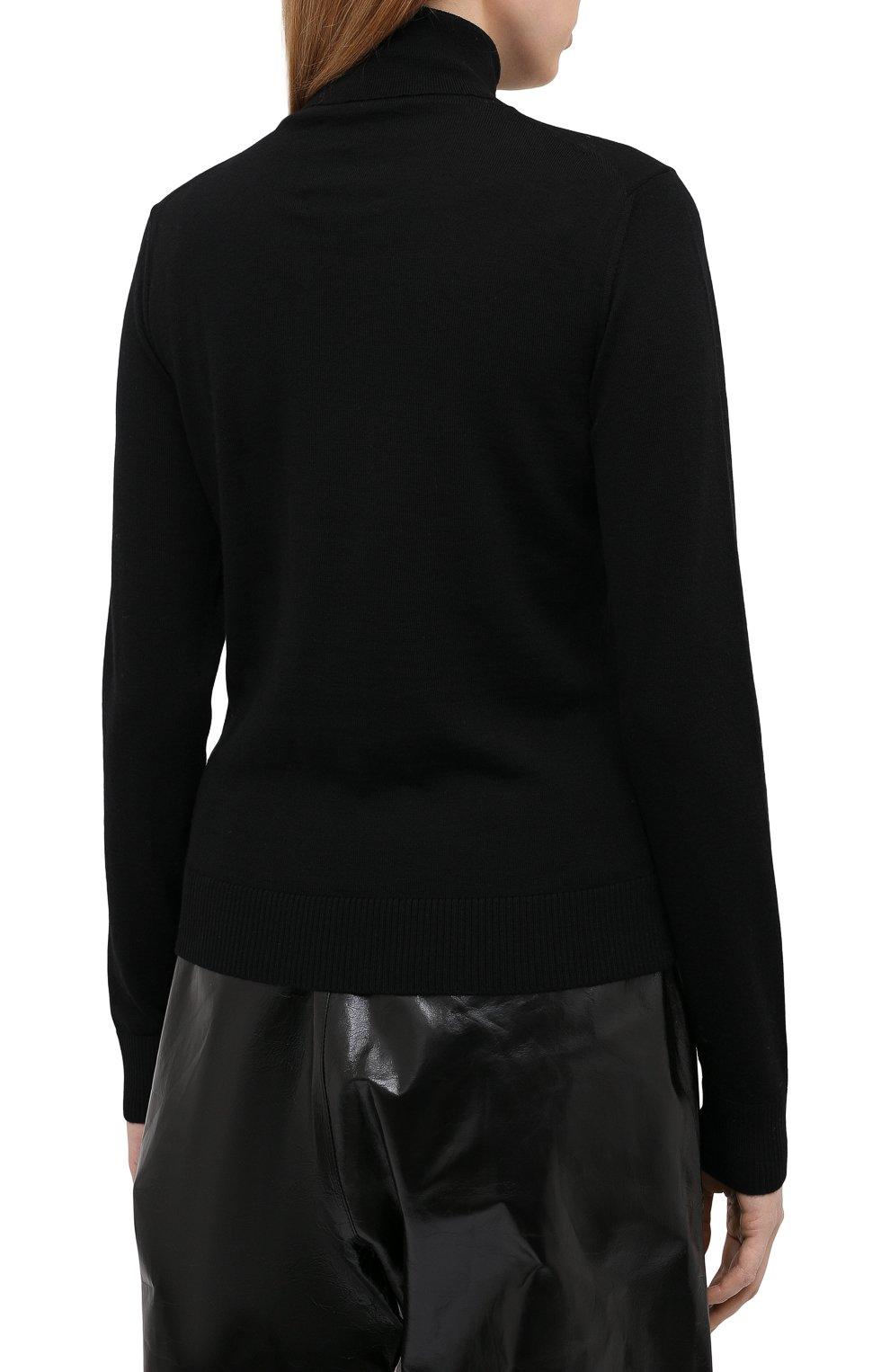 Женская хлопковая водолазка OPENING CEREMONY черного цвета, арт. YWHF002E20KNI001 | Фото 4 (Женское Кросс-КТ: Водолазка-одежда; Материал внешний: Шерсть; Рукава: Длинные; Длина (для топов): Стандартные; Стили: Кэжуэл)