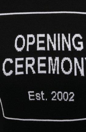 Женская хлопковая водолазка OPENING CEREMONY черного цвета, арт. YWHF002E20KNI001 | Фото 5 (Женское Кросс-КТ: Водолазка-одежда; Материал внешний: Шерсть; Рукава: Длинные; Длина (для топов): Стандартные; Стили: Кэжуэл)