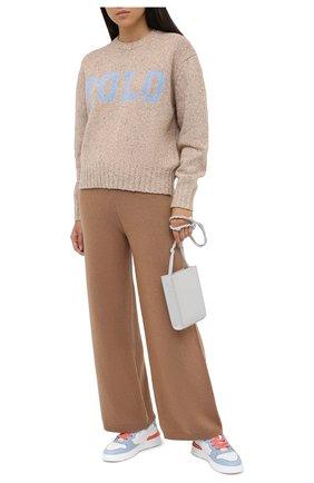 Женские брюки из шерсти и кашемира OPENING CEREMONY бежевого цвета, арт. YWHG001E20KNI001   Фото 2