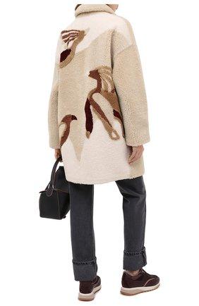 Женская дубленка SPRUNG бежевого цвета, арт. MANNIA/SP20-34 | Фото 2