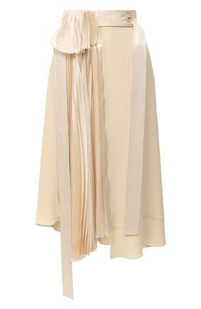 Женская юбка LANVIN бежевого цвета, арт. RW-ST411T-4562-A20 | Фото 1