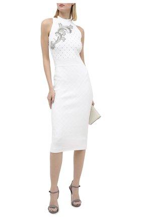 Женское платье из вискозы BALMAIN белого цвета, арт. UF16534/K157   Фото 2