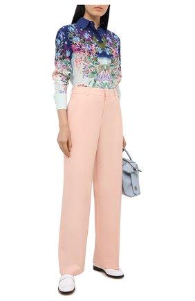 Женские шерстяные брюки GIVENCHY светло-розового цвета, арт. BW50M812JF   Фото 2
