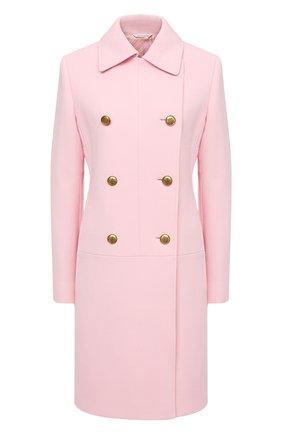 Женское шерстяное пальто GIVENCHY розового цвета, арт. BWC072127Y   Фото 1