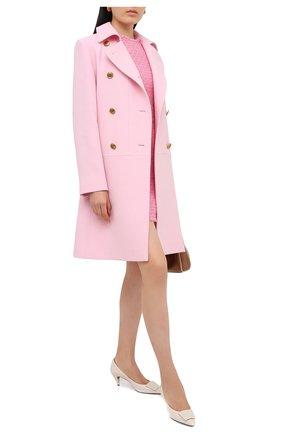 Женское шерстяное пальто GIVENCHY розового цвета, арт. BWC072127Y   Фото 2