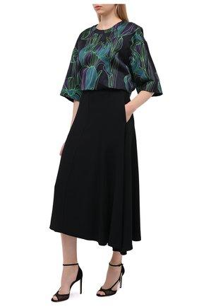 Женские комбинированные босоножки liu 100 JIMMY CHOO черного цвета, арт. LIU 100/SMS   Фото 2