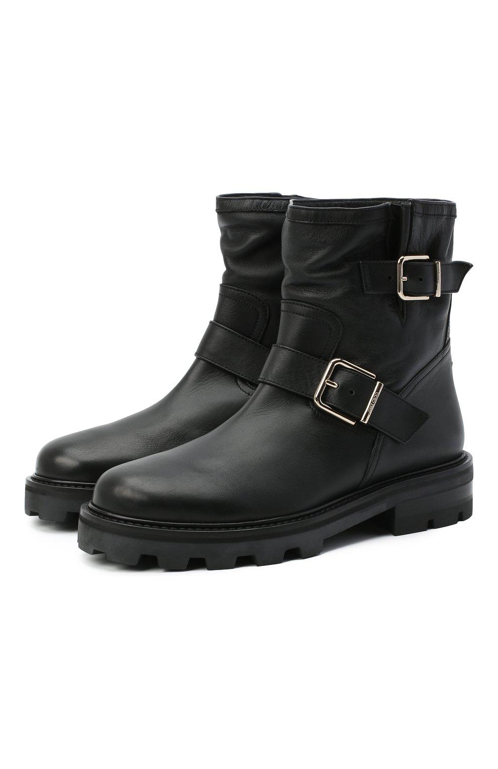 Женские кожаные ботинки youth JIMMY CHOO черного цвета, арт. Y0UTH II/SQM | Фото 1