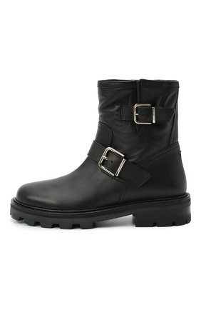 Женские кожаные ботинки youth JIMMY CHOO черного цвета, арт. Y0UTH II/SQM | Фото 3