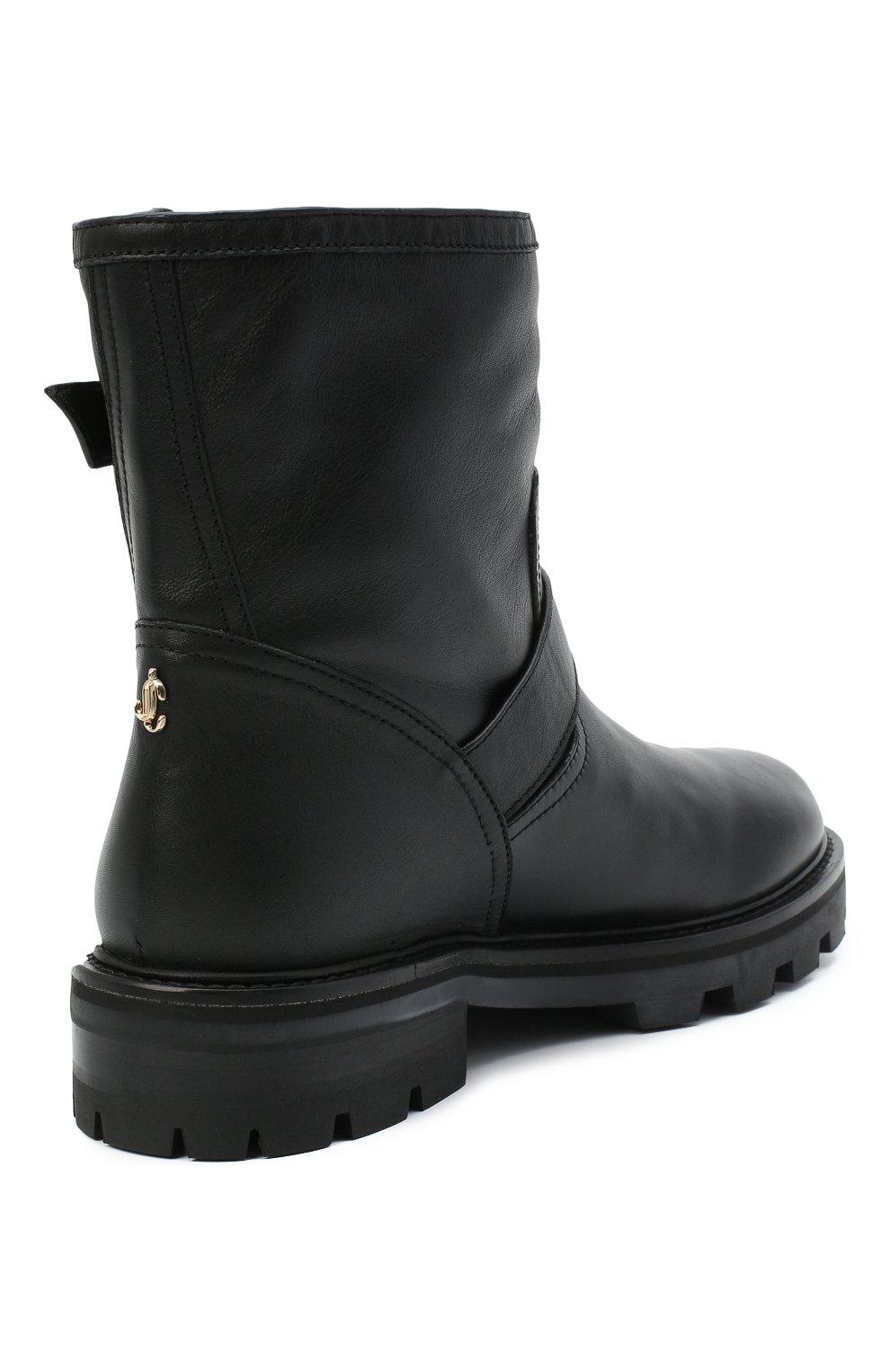 Женские кожаные ботинки youth JIMMY CHOO черного цвета, арт. Y0UTH II/SQM | Фото 4