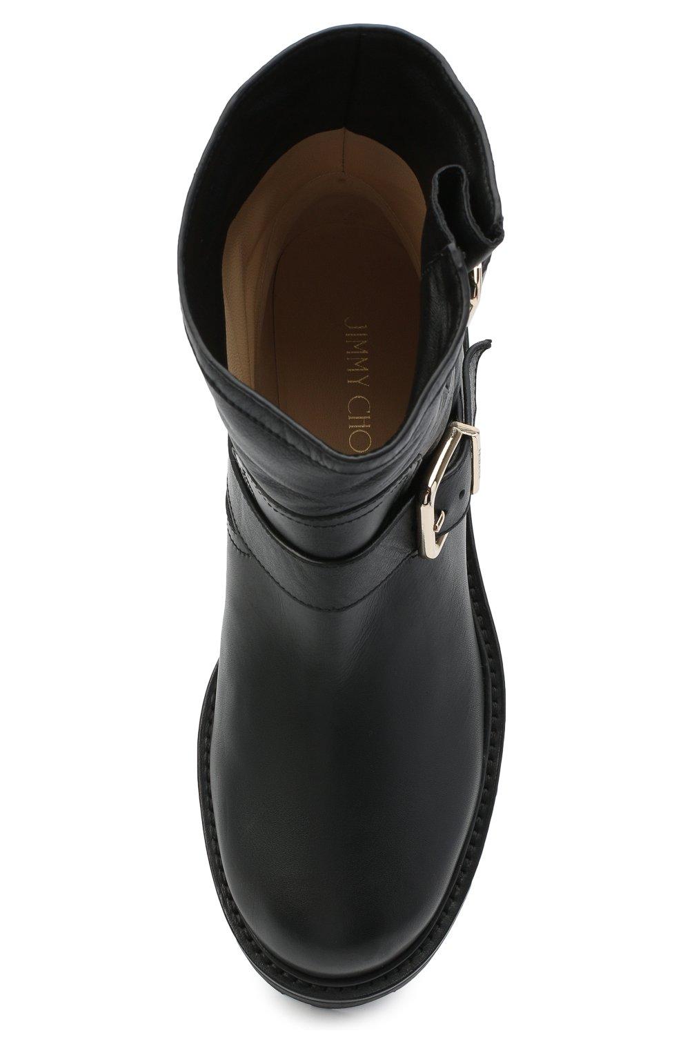 Женские кожаные ботинки youth JIMMY CHOO черного цвета, арт. Y0UTH II/SQM | Фото 5