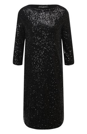 Женское платье с пайетками PIETRO BRUNELLI черного цвета, арт. AS0316/PLP810 | Фото 1