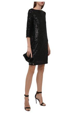 Женское платье с пайетками PIETRO BRUNELLI черного цвета, арт. AS0316/PLP810 | Фото 2