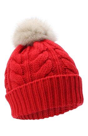 Женский шапка из шерсти и вискозы WOOLRICH красного цвета, арт. CFWWAC0082FR/UF0220 | Фото 1