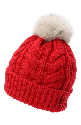 Женский шапка из шерсти и вискозы WOOLRICH красного цвета, арт. CFWWAC0082FR/UF0220 | Фото 2