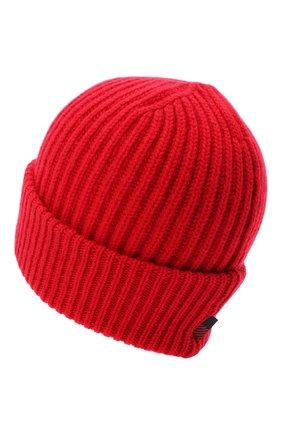 Женский кашемировая шапка WOOLRICH красного цвета, арт. CFWWAC0093FR/UF0391 | Фото 2