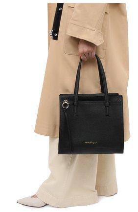 Женский сумка-тоут SALVATORE FERRAGAMO черного цвета, арт. Z-0720527 | Фото 2