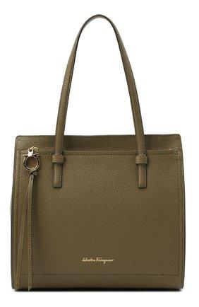 Женский сумка-тоут SALVATORE FERRAGAMO хаки цвета, арт. Z-0736663 | Фото 1