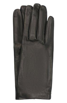 Женские кожаные перчатки DRIES VAN NOTEN черного цвета, арт. 202-10101-101 | Фото 1