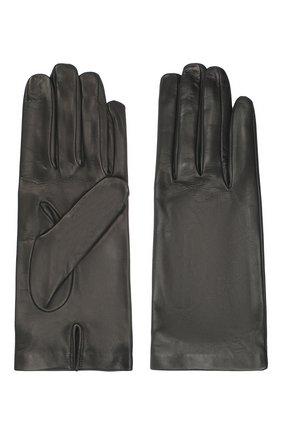 Женские кожаные перчатки DRIES VAN NOTEN черного цвета, арт. 202-10101-101 | Фото 2
