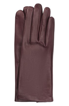 Женские кожаные перчатки DRIES VAN NOTEN фиолетового цвета, арт. 202-10101-101 | Фото 1