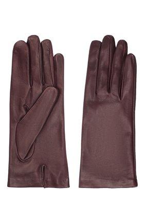 Женские кожаные перчатки DRIES VAN NOTEN фиолетового цвета, арт. 202-10101-101 | Фото 2