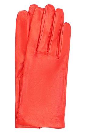Женские кожаные перчатки DRIES VAN NOTEN красного цвета, арт. 202-10101-101 | Фото 1