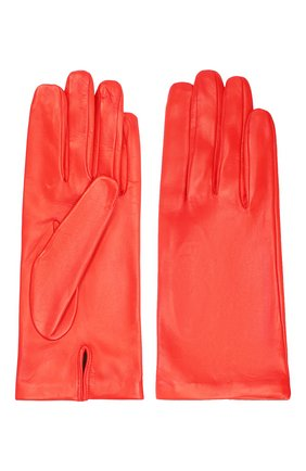 Женские кожаные перчатки DRIES VAN NOTEN красного цвета, арт. 202-10101-101 | Фото 2