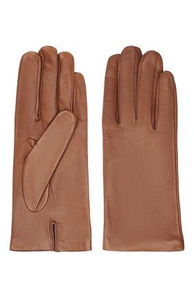 Женские кожаные перчатки DRIES VAN NOTEN коричневого цвета, арт. 202-10101-101 | Фото 2