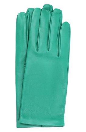 Женские кожаные перчатки DRIES VAN NOTEN зеленого цвета, арт. 202-10101-102 | Фото 1