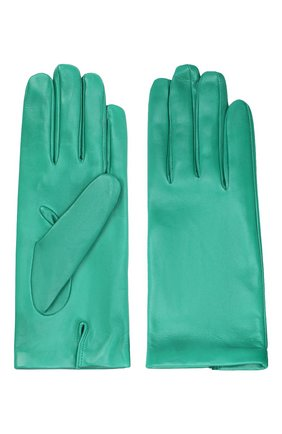 Женские кожаные перчатки DRIES VAN NOTEN зеленого цвета, арт. 202-10101-102 | Фото 2