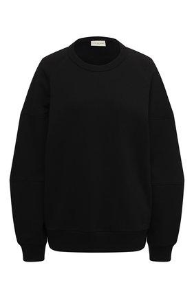 Женская хлопковый свитшот DRIES VAN NOTEN черного цвета, арт. 202-11159-1620 | Фото 1