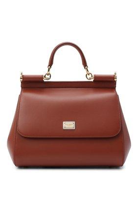 Женская сумка sicily medium DOLCE & GABBANA коричневого цвета, арт. BB6002/AW752 | Фото 1