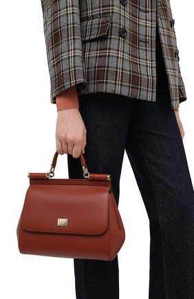 Женская сумка sicily medium DOLCE & GABBANA коричневого цвета, арт. BB6002/AW752 | Фото 2
