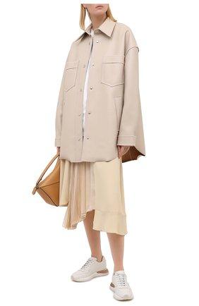 Женские кожаные кроссовки SALVATORE FERRAGAMO белого цвета, арт. Z-07368811C   Фото 2