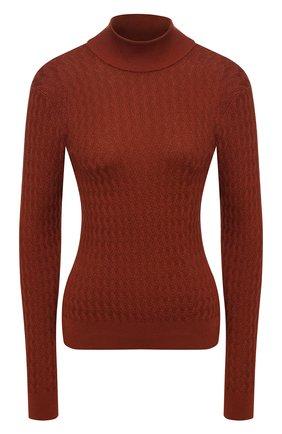 Женская шелковый свитер DOLCE & GABBANA оранжевого цвета, арт. FX883T/JASNV | Фото 1