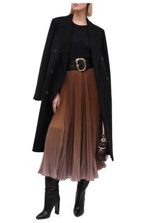 Женская плиссированная юбка DOLCE & GABBANA бежевого цвета, арт. F4BZ0T/GDW12 | Фото 2