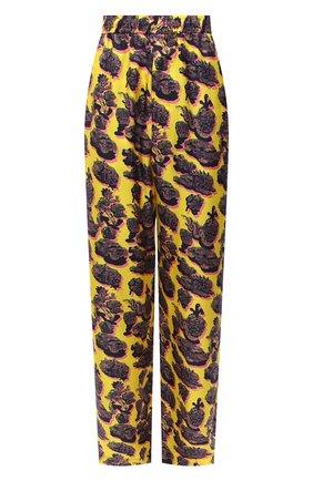 Женские шелковые брюки STELLA MCCARTNEY желтого цвета, арт. 601570/SPN17 | Фото 1